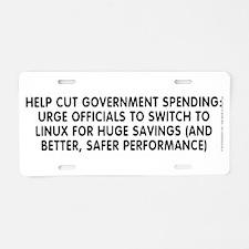 Help cut...Linux - Aluminum License Plate