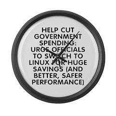 Help cut...Linux - Large Wall Clock