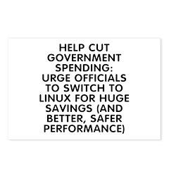 Help cut...Linux - Postcards (Package of 8)
