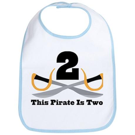 Pirate 2nd Birthday Gift Bib