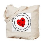 Cats and Dogs Unite! VAS awareness Tote Bag