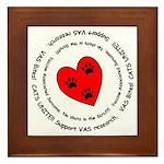 VAS awareness Framed Tile