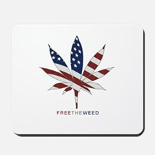 free the weed Mousepad