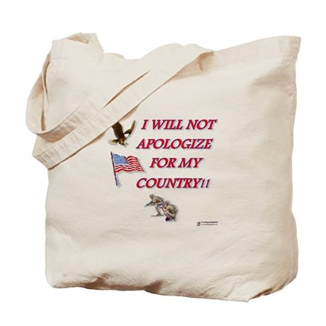 I Will Not Apologize Tote Bag