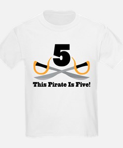 Pirate 5th Birthday Gift T-Shirt