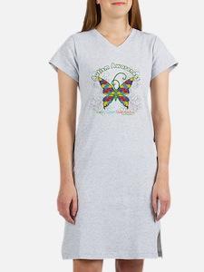 Autism Awareness Hope Butterfly Women's Nightshirt