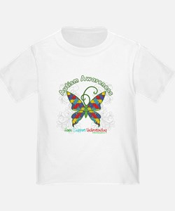 Autism Awareness Hope Butterfly T