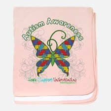 Autism Awareness Hope Butterfly baby blanket
