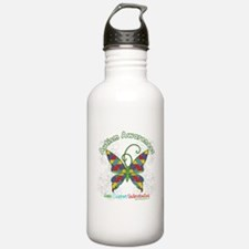 Autism Awareness Hope Butterfly Water Bottle