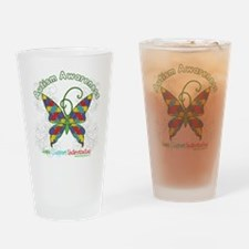 Autism Awareness Hope Butterfly Drinking Glass