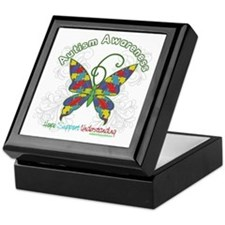 Autism Awareness Hope Butterfly Keepsake Box