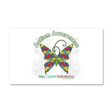 Autism Awareness Hope Butterfly Car Magnet 20 x 12