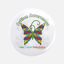 """Autism Awareness Hope Butterfly 3.5"""" Button"""