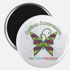 Autism Awareness Hope Butterfly Magnet