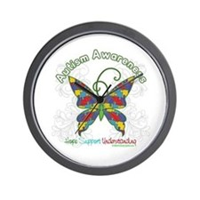 Autism Awareness Hope Butterfly Wall Clock