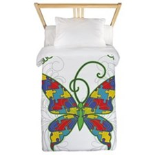 Autism Awareness Hope Butterfly Twin Duvet