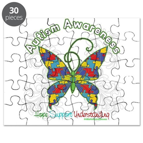 Autism Awareness Hope Butterfly Puzzle