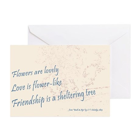 Friendship Cards (Pk of 10), Coleridge Poem