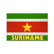 Suriname Flag Rectangle Magnet