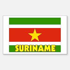 Suriname Flag Rectangle Decal