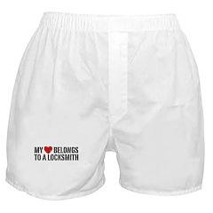 My Heart Belongs To A Locksmith Boxer Shorts