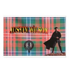 Justin Tartan-2 Postcards (Package of 8)