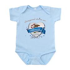 Illinois Girl Infant Bodysuit