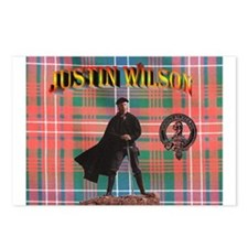 Justin Tartan-3 Postcards (Package of 8)