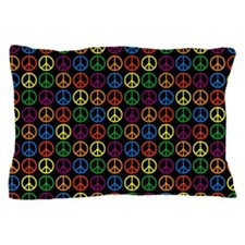 Peace Signs Pillow Case