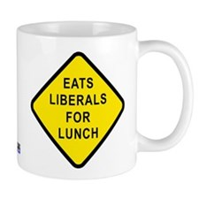 """Eats Liberals for Lunch"" Mug"