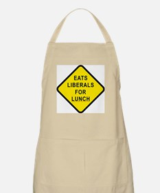 """""""Eats Liberals for Lunch"""" BBQ Apron"""
