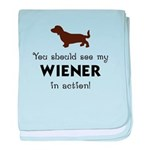 You Should See My Wiener Baby Blanket
