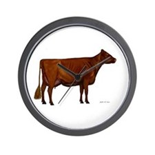 Shorthorn dairy cow Wall Clock