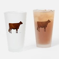 Shorthorn dairy cow Drinking Glass
