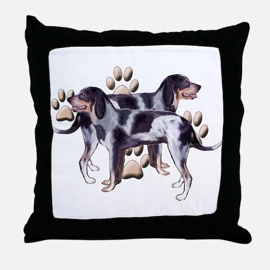 best friends coonhound Throw Pillow