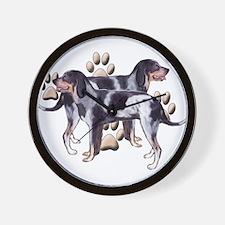 best friends coonhound Wall Clock