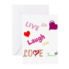 live laugh love Greeting Cards (Pk of 20)