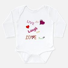 live laugh love Long Sleeve Infant Bodysuit