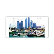 Guarded Marina Aluminum License Plate