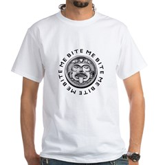 Mayan Bite Me White T-Shirt