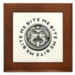 Mayan Bite Me Framed Tile