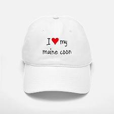 I LOVE MY Maine Coon Baseball Baseball Cap