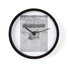 1906 San Francisco Earthquake Wall Clock
