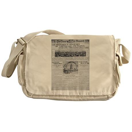 1906 San Francisco Earthquake Messenger Bag