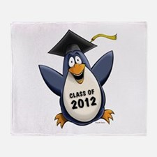 2012 Graduate Penguin Throw Blanket