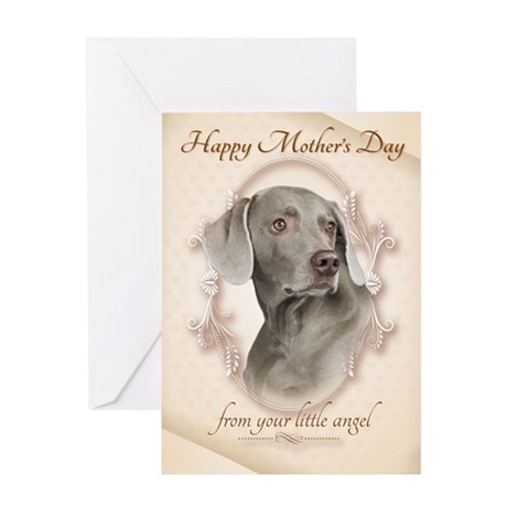 Funny Weimaraner Mother's Day Card