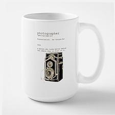 Definition & vintage camera 5 Large Mug
