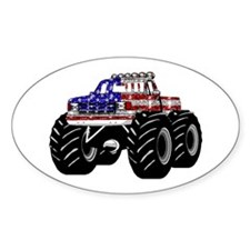 AMERICAN MONSTER TRUCK Oval Stickers