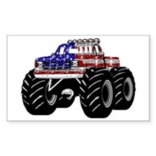 AMERICAN MONSTER TRUCK Rectangle Decal