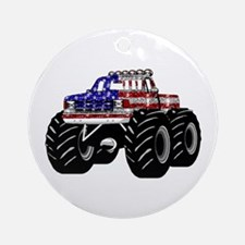 AMERICAN MONSTER TRUCK Ornament (Round)
